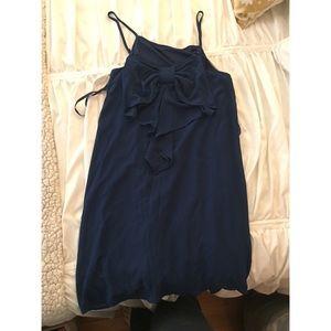 Lulus navy blue bow back dress